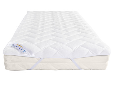 Matratzenauflage verstepptes AloeVera-Doppeltuch mit 4 Eckgummis