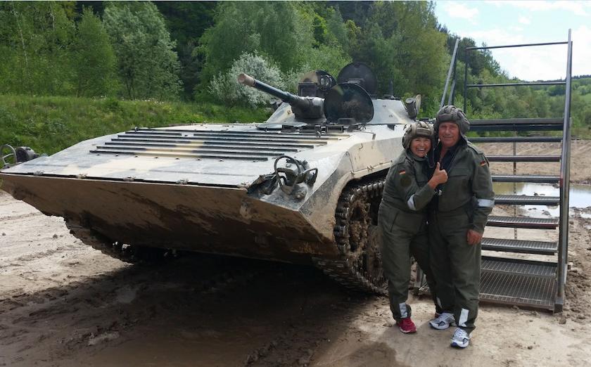 Panzer fahren - Partnergutschein im BMP (Königsee