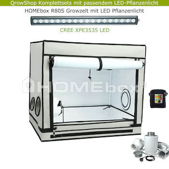 HOMEbox Ambient R80S – Laser CREE 33W Premium LED Growbox SET