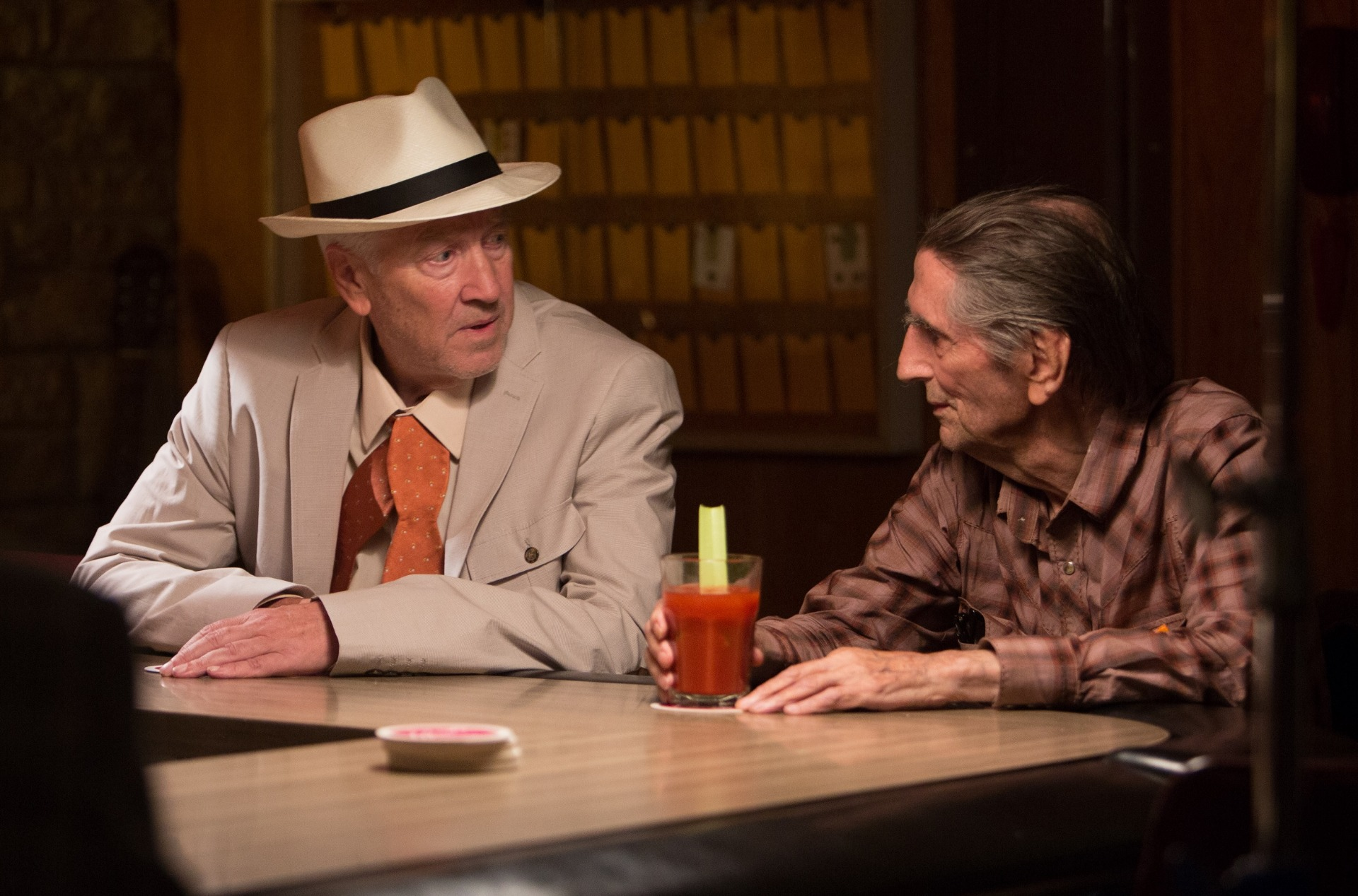Harry Dean Stanton (re.), David Lynch (li.), Lucky, Schauspieler, Filmstar, Kino, Filmlegende