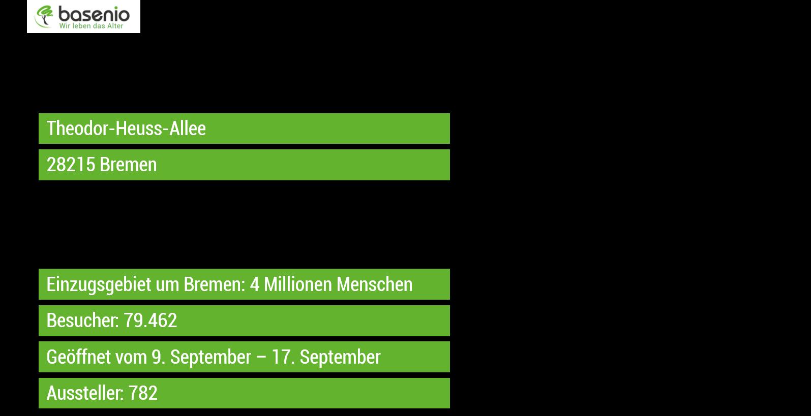 Daten zur HanseLife 2017 in Bremen. Für die InVita liegen der Redaktion keine gesonderten Zahlen vor.