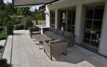 TravertinTerrassenplatten Im Außenbereich Kaufen Preise Ab Qm - Terrassenplatten stein preise