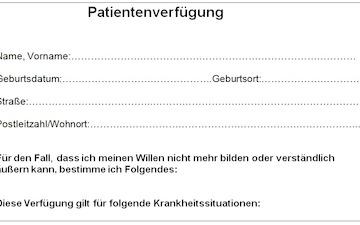 patientenverfgung 2016 neu formulierungen neuerungen hilfe - Muster Patientenverfugung