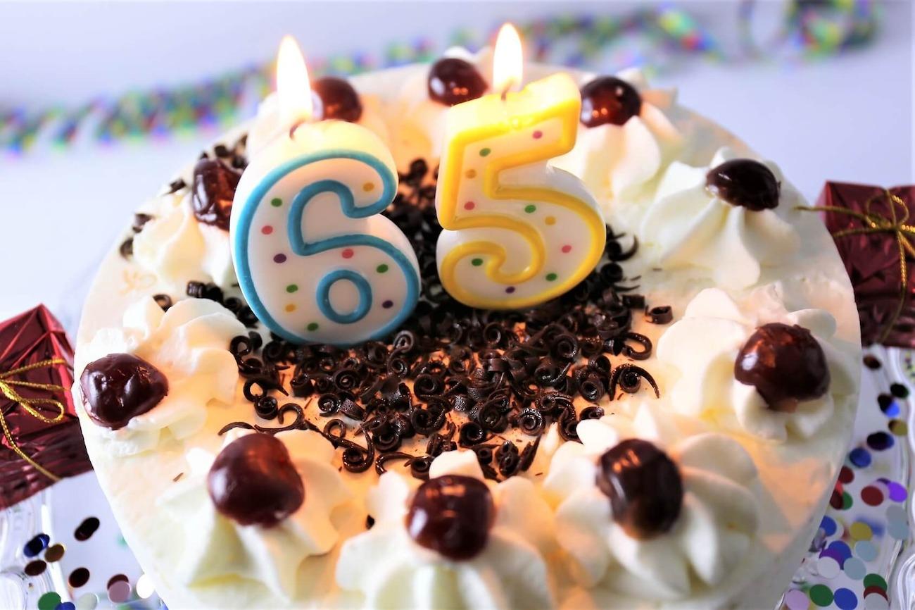 Zum 65 Geburtstag Alles Liebe Gute Gesundheit Gluck